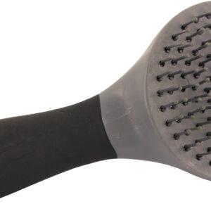 Man halebørste i sort og grå